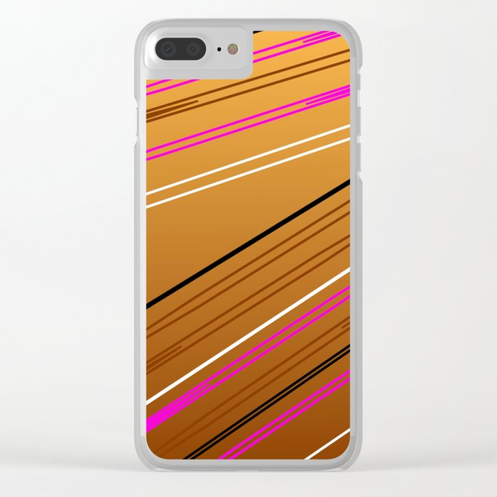 Soft Brown Clear iPhone Case