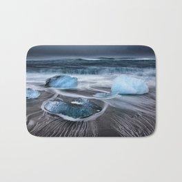 Ice on the Coast of Iceland Bath Mat