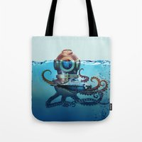 finding nemo Tote Bags featuring Nemo by Tony Vazquez