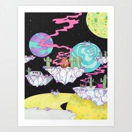 Cosmic Campsite Art Print