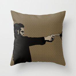 Kittappa Series - Brown Throw Pillow