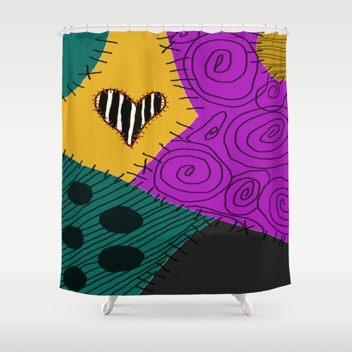 sally nightmare before christmas shower curtain