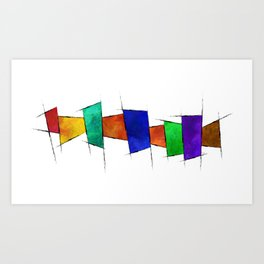 Esconamessia - coloured squares Art Print