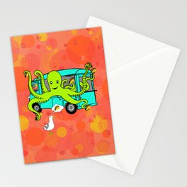 Flock of Gerrys Octo's Tacos by Seasons Kaz Sparks Stationery Cards