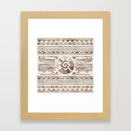 Hunab Ku Pastel gold Framed Art Print