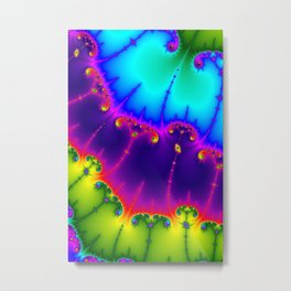 Abstract art violet sky blue psychedelic printable poster Metal Print