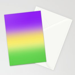 Mardi Gras Ombré Gradient Stationery Cards