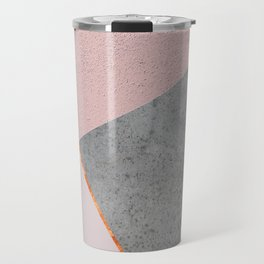 BLUSH GRAY COPPER GEOMETRICAL Travel Mug