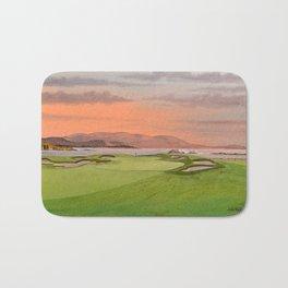 Pebble Beach Golf Course Hole 17 Bath Mat