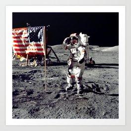 Salute on the Moon Art Print