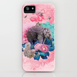 FLORAL ELEPHANT iPhone Case