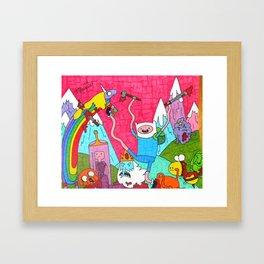 Mature Adventure Land Framed Art Print
