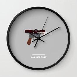 HAN SHOT FIRST (Star Wars) Wall Clock