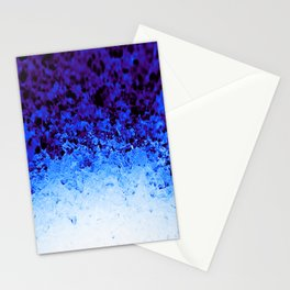 Indigo Blue Crystal Ombre Stationery Cards