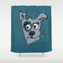 Bandit - petrol Shower Curtain