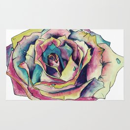 Watercolor Rose Rug