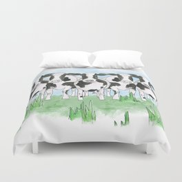 A Field of Cows Duvet Cover