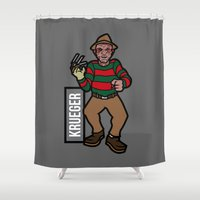 freddy krueger Shower Curtains featuring Freddy Krueger by AhamSandwich
