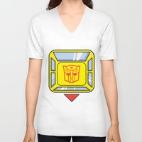 transformers V-neck T-shirts featuring Transformers - Bumblebee by CaptainLaserBeam