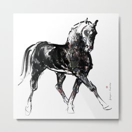 Horse (Half pass 2) Metal Print