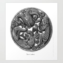 Three Brothers Art Print