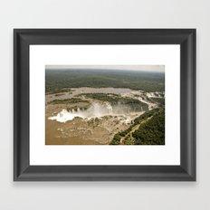 Iguassu Falls Aerial View Framed Art Print