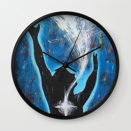 Holy Spirit Worship art Wall Clock