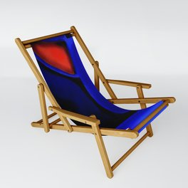 Abstraction in Lapis and Red Sling Chair