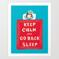 keep calm Art Prints featuring keep calm by Jill Howarth