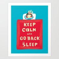 keep calm Art Prints featuring keep calm by Jill Howarth