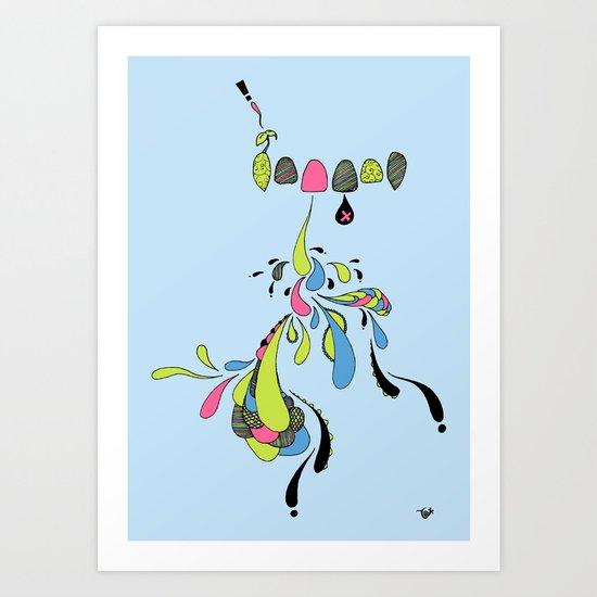 Growing Pain Art Print