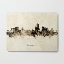 Montgomery Alabama Skyline Metal Print