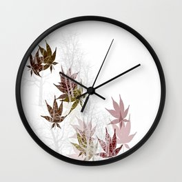 Leaves and Trees Wall Clock