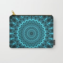 Light blue ornamnted mandala Carry-All Pouch
