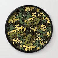 military Wall Clocks featuring Military pattern. by Julia Badeeva