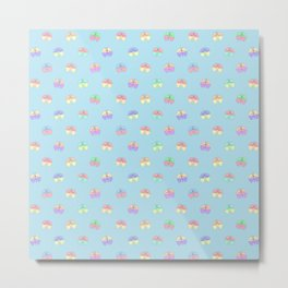 Whimsical Butterfly Pattern Metal Print