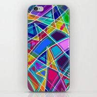stained glass iPhone & iPod Skins featuring Stained Glass by gretzky