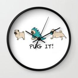 PUG, PUGS (great on teeshirts)! Wall Clock
