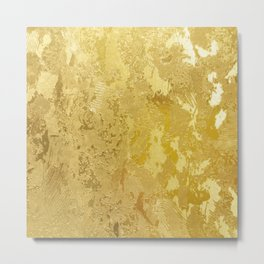 golden vintage Metal Print