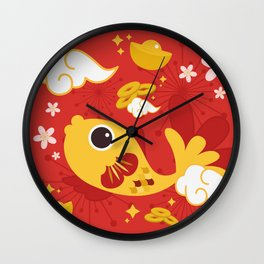 Happy And Lucky Wall Clock