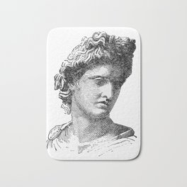 Portrait of Apollo Belvedere Bath Mat
