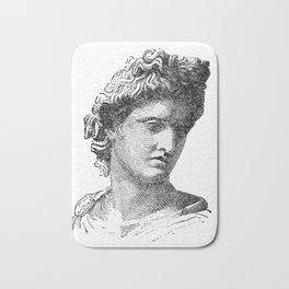 Portrait of Apollo Belvedere Bath Mat