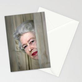 QUEEN ELIZABETH PEEK A BOO Stationery Cards
