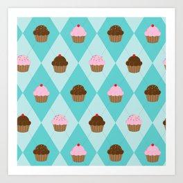 Argyle Cupcakes Art Print