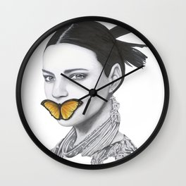 Speak No Evil - Flower Girl Series Wall Clock