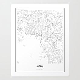 Oslo, Norway Minimalist Map Art Print
