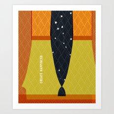 Create Happiness Modern Geometric Masculine Art Print
