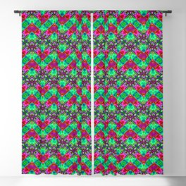 Stitched Vibrant Zigzags Blackout Curtain
