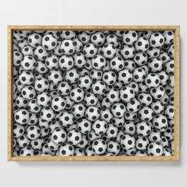 Soccer balls Serving Tray