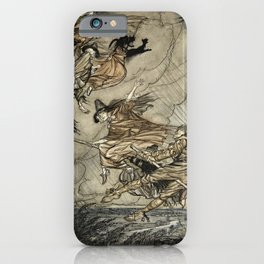 "Four Witches ""Up The Chimney"" by Arthur Rackam iPhone Case"